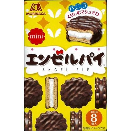日本森永 mini香草味巧克力派 棉花糖夹心蛋糕8枚72g 零食饼干