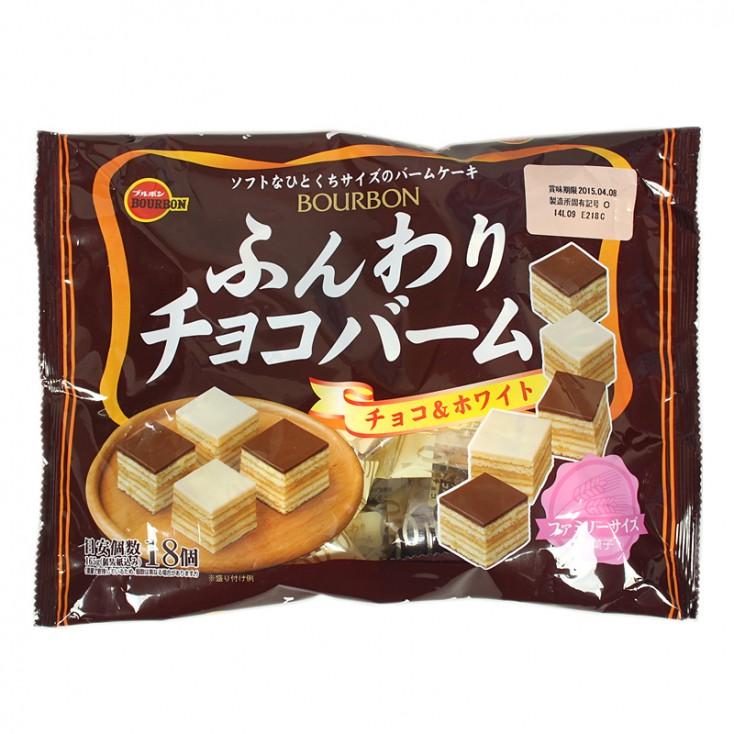 日本年货 布尔本Bourbon2味牛奶巧克力/白巧克力千层蛋糕165g 秋冬限量