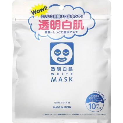 日本石泽研究所透明白肌美白保湿修复面膜 10片